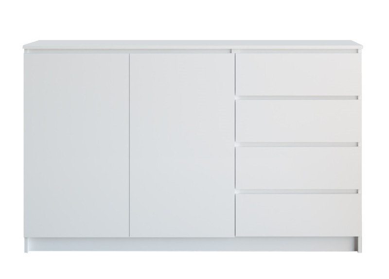 Комод Мори мк1600.1 (4ящика/2двери), белый (q16)